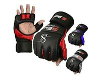 MMA red and black gloves