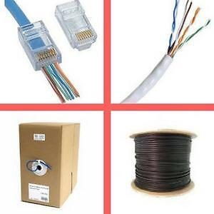 Weekly Promo!  Cat5e cable, cat6 cable, cat3 telephone cable, RJ45 connector, EZ RJ45 Connector