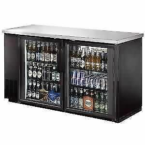 Back Bar Cooler, Glass Door,60 with Stainless Steel Top and LED *RESTAURANT EQUIPMENT PARTS SMALLWARES HOODS AND MORE*