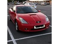 2002 TOYOTA CELICA 1.8 VVTi MANUAL 140 BHP IN RED BREAKING FOR PARTS