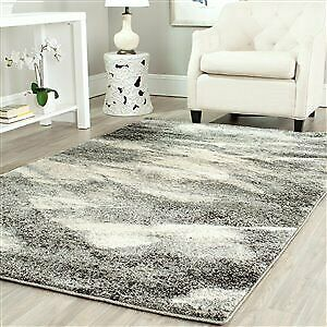 Brand New 6x9 Safaviegh Retro Abstract Grey Shag Rug