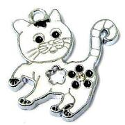 Enamel Cat Charms