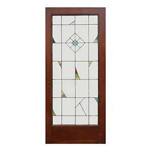 leaded glass door ebay