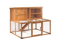 Hawthorne Lodge Single Hutch and Double Run For Rabbits and Guinea Pigs