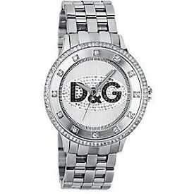 Silver D & G Unisex Watch in Excellent Condition, Ideal Christmas Present