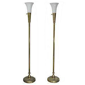 Antique Brass Floor Lamp Ebay