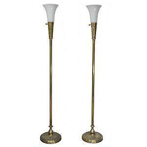Antique brass lamp ebay antique brass floor lamps aloadofball Images