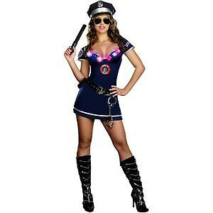 Womans police costume that lights up