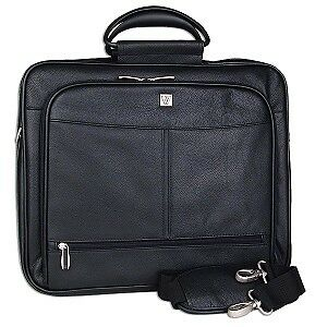 V7 Executive Leather Notebook Case w/Shoulder Strap