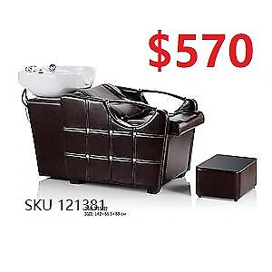 Brand New Salon Barber Styling Chair Shampoo Unit Station