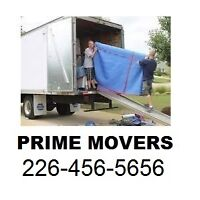 Prime Movers - 2 Men ( $240 Flat Rate 3 Hours ) 226-456-5656