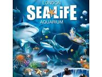 6 tickets to the Coca Cola London Eye and London Sealife Centre 22/12/2016