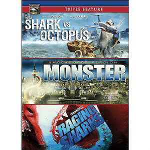 Triple Feature Dvd-Shark vs. Octopus,Monster,Raging Sharks