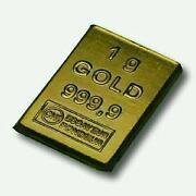 Goldbarren 1g