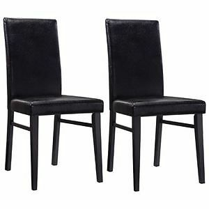 Set of 2 Brown/Black Pub Style Chairs