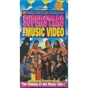 WWE Superstars The Music Video VHS