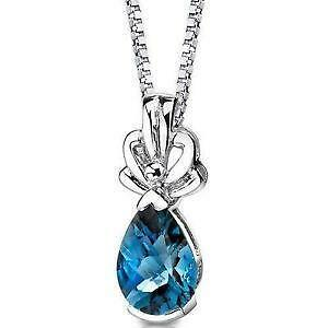 necklace glitzy jewelry cut rocks sterling blue swiss topaz pear silver watches product