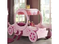 Princess Carriage bed pink