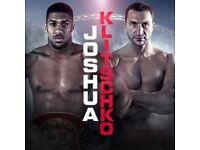 2x Anthony Joshua vs Vladimir klitchko tickets