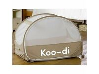Koo-Di Pop Up Bubble Travel Cot - Cafe Creme