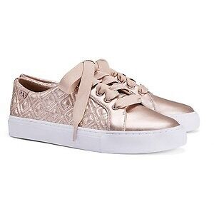 BNIB Tory burch metallic sneakers