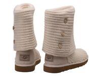 UGG cream cardi boots
