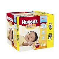 Huggies little snugglers size 2  186 count