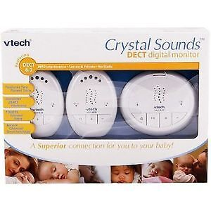 Vtech crystal sounds Dect 6.0 monitor with 2 parental units