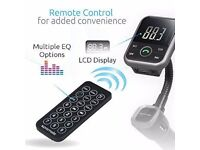 Bluetooth in-car transmitter handsfree and charger with remote!(can be linked with your mobile)