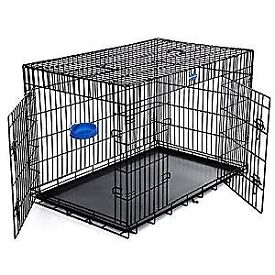 Extra large dog crate, 2 door, folds down 106 x 70 x 77.5 cm (W x D x H)
