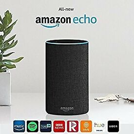 NEW Amazon Echo (2nd Generation) Smart Assistant - Charcoal Fabric (Alexa)