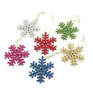 Snowflake decorations ebay snowflake christmas decorations junglespirit Images