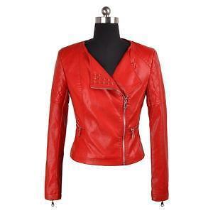 Studded leather jacket ebay red studded leather jacket gumiabroncs Choice Image