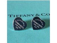 tiffany & co heart earrings 925 silver