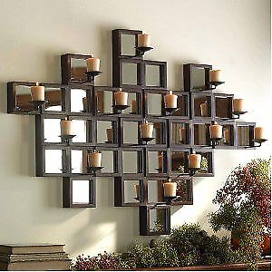 Wall Mirror with Candle Sconce