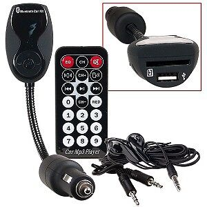 Bluetooth Hands-Free Car Kit w/FM Transmitter/MP3 Player/SD/MMC