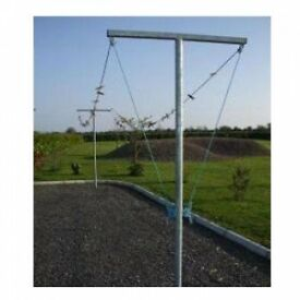 clothesline (heavy duty) . The pair come with postcrete,pullies and rope.