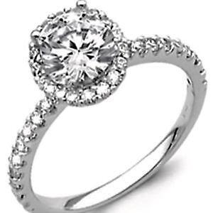 Man Made Diamond Engagement Ring