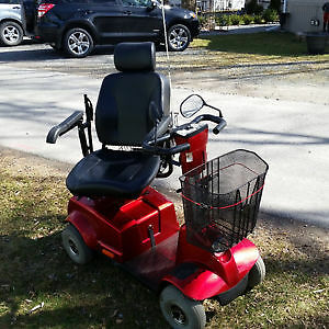 Red 1700 Fortress four wheeled electric mobility scooter