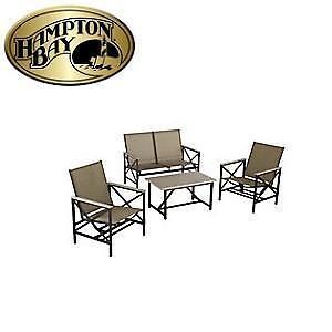 NEW HAMPTON BAY 4PC SEATING SET NORTH UPLAND SLING SEATING SET 110833018