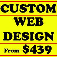 CUSTOM AFFORDABLE WEB DESIGN Websites Developers Toronto $439