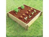 Heavy Duty Raised Bed Garden Planter Made From FSC Wood (1m x 1m x 30cm Internal Size)