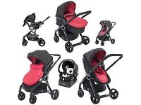 Chicco urban duo single travel system - red wave