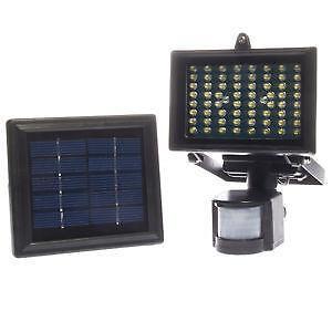 Solar Powered Motion Sensor Security Light Ebay