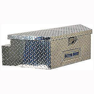 Better Built 66010148 Utility Trailer Tongue Tool Box Aluminum Diamond Plate