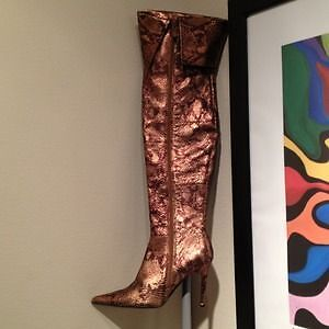 Colin Stuart Snakeskin leather knee-high boots London Ontario image 3