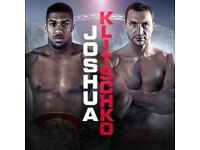Anthony Joshua Vs Klitschko 2 Tickets seated together