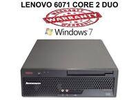 Lenovo ThinkCentre PC Computer - 2.4Ghz 4GB 250 GB Win 7 Pro