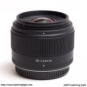 Sigma 19mm F/2.8 EX DN lens.  Micro 4/3 for Olympus, Panasonic.