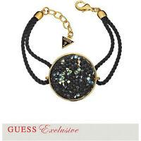 GUESS Gold Tone Crystal Disc Bracelet